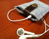 Wool Felt IPhone Case/Wallet by IslandFitz (Refurbished Leather)