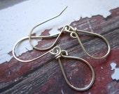 Sterling silver  earrings handcrafted tear drops