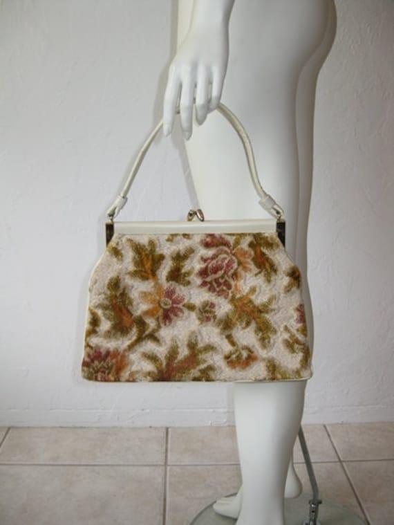 60s floral TAPESTRY handbag