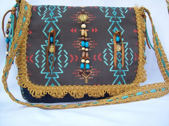 Cassidys Western Style Purse  (All New, Beaded with Leather))