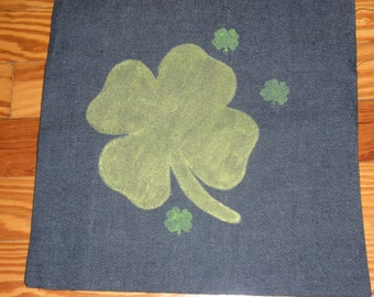 luck painted pillow