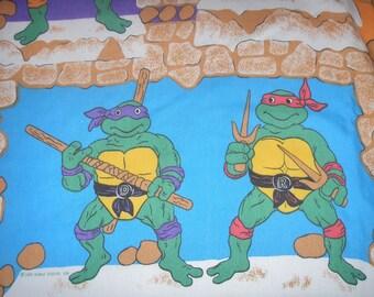 Teenage Mutant Ninja Turtles TWIN FLAT Sheet - Reclaimed Bed Linens