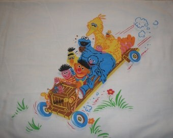 Sesame Street Go Cart STANDARD PILLOWCASE - Reclaimed Bed Linens
