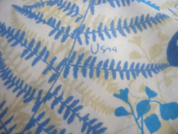 Beautiful Vintage Vera Neumann Ferns and Butterflies STANDARD PILLOWCASES