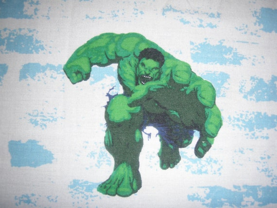 Incredible Hulk TWIN FLAT Sheet - Reclaimed Bed Linens