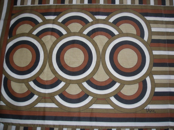Vera Brown Stripes and Circles STANDARD PILLOWCASE - REclaimed Bed Linens