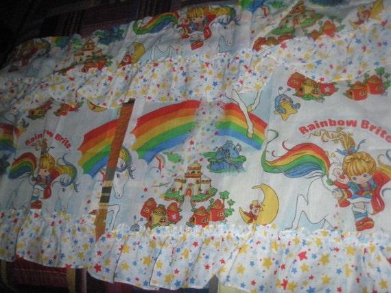 Rainbow Bright Curtain Valance