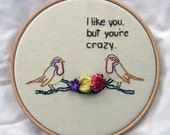 Crazy Bird Hand Embroidery