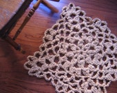 Square Lace Rag Crochet Rug Pattern