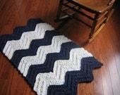 Chevron Rag Crochet Rug Pattern
