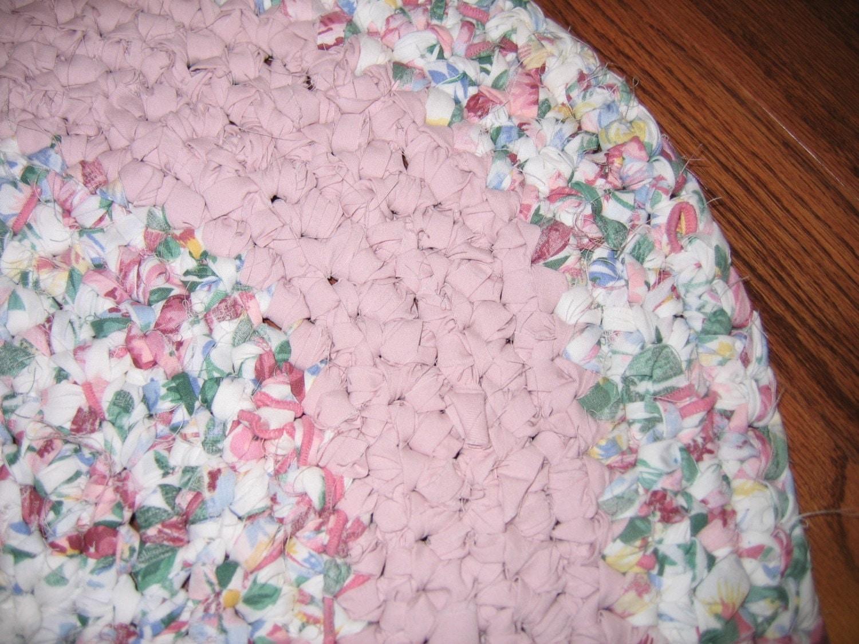 Crocheted Oval Rag Rug