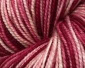Gradient Self Striping Sock Yarn - Raspberry