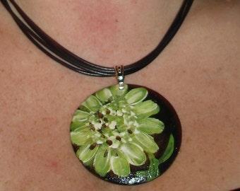 green posey pendant