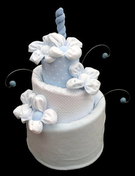 Boy Diaper Cake Decorations : Items similar to Diaper Cake, Baby Shower Diaper Cake Gift ...