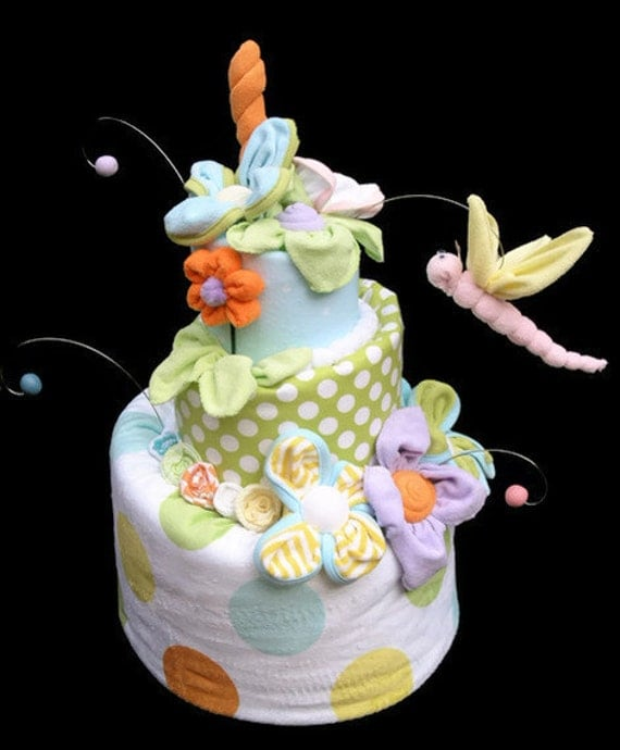 Items Similar To Diaper Cake, Baby Shower, Gender Neutral