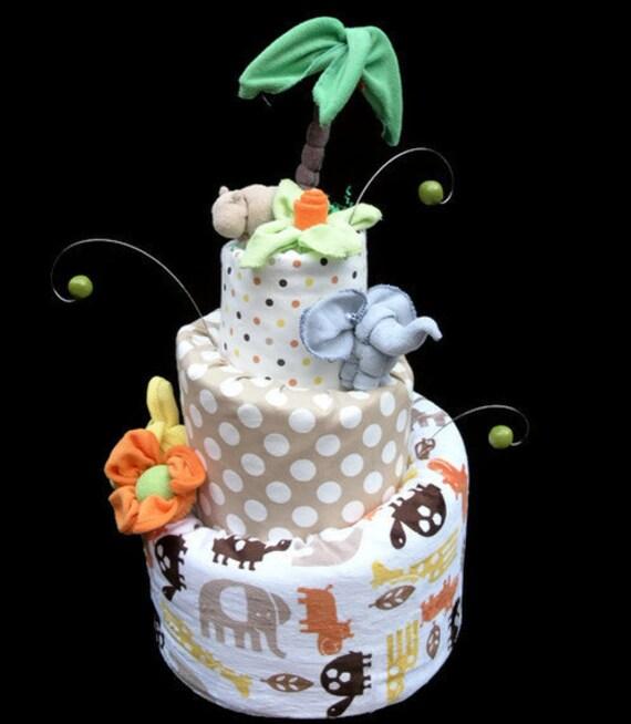 Safari Diaper Boys Diaper Cake Safari Baby