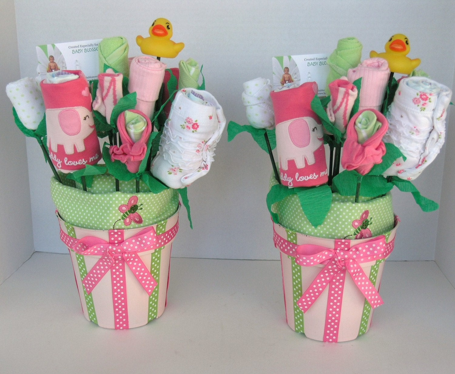 Baby Girl Gift Ideas: Baby Blossom Bouquets For Twin Girls Unique By Babyblossomco