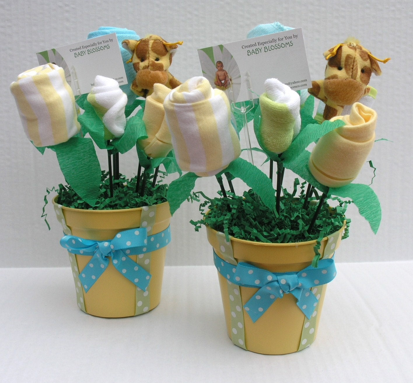 baby shower centerpieces baby clothes bouquet by babyblossomco