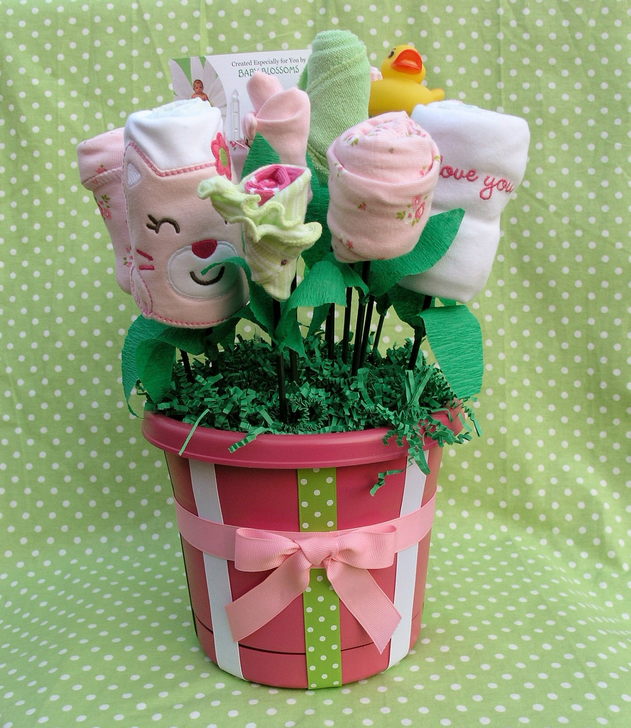 Baby Shower Gift Basket for Newborn Girl Unique by ...