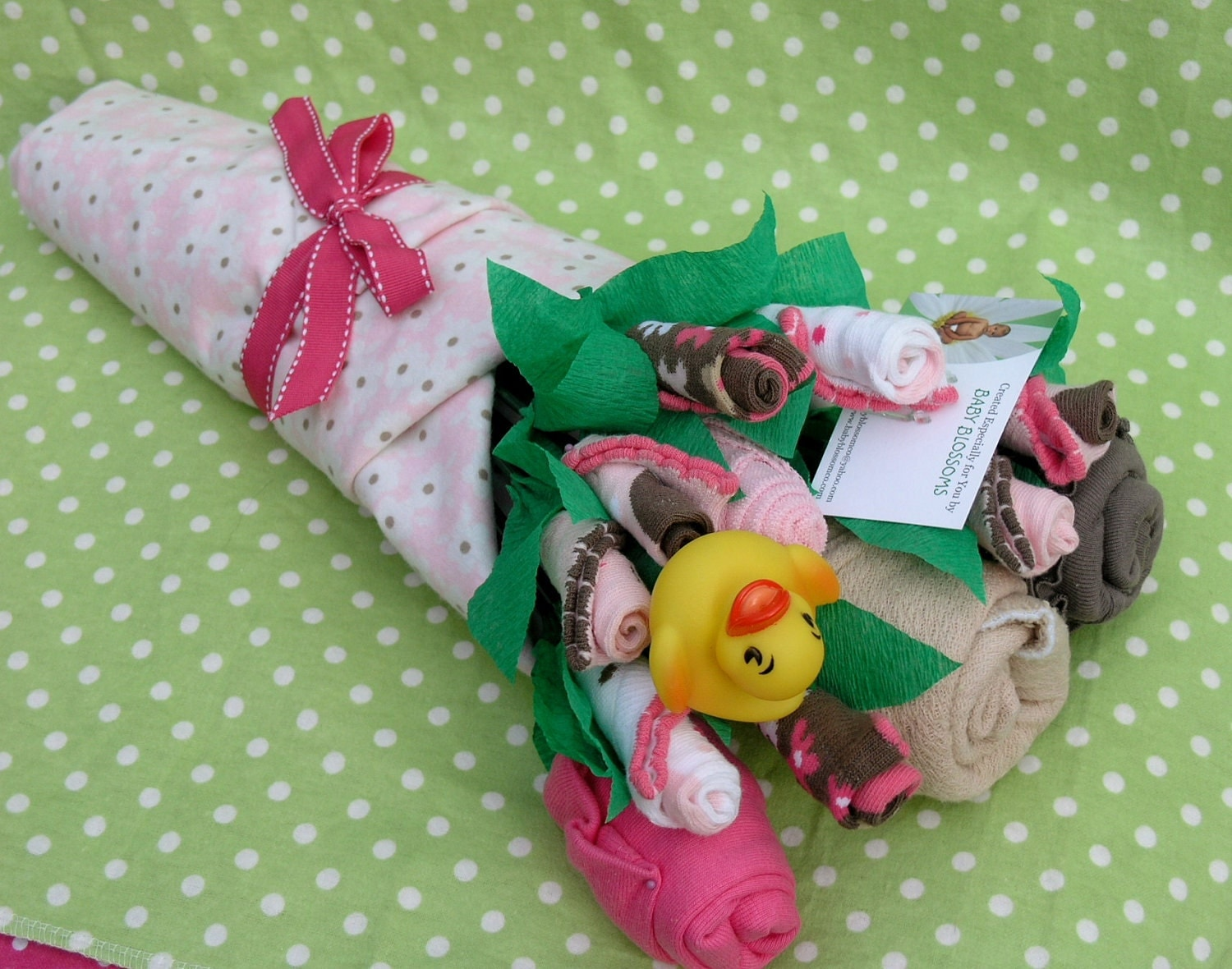 Baby Girl Gift Ideas: Baby Clothes Bouquet For Girls: Unique Baby By Babyblossomco