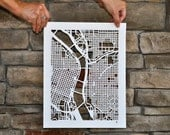 portland mapcut on white