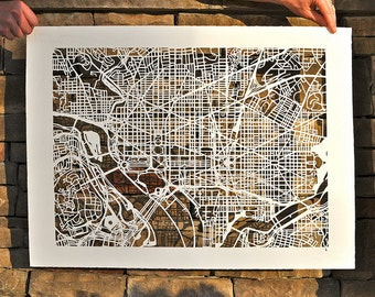 washington d.c. mapcut