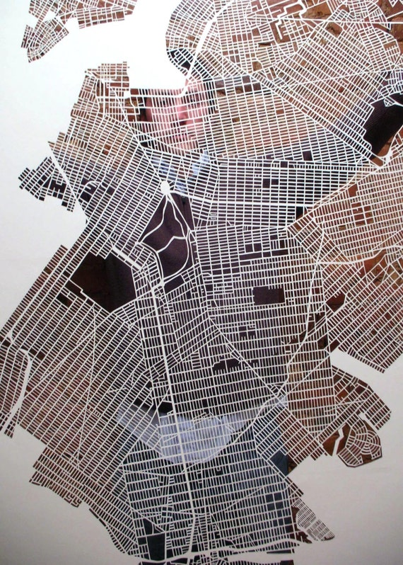 new york city map cuts