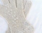 Elegant Crocheted Gloves
