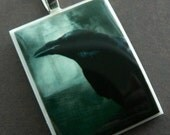 Nevermore Polymer Clay Photo Pendant