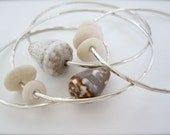 Hawaii Sterling silver shell bangles - Pick your shell