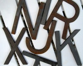 Industrial Metal Letter T...is for TERRIFIC under 10.00 bucks