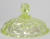 Replacement Lid Vaseline Glass Cover  Antique Glass