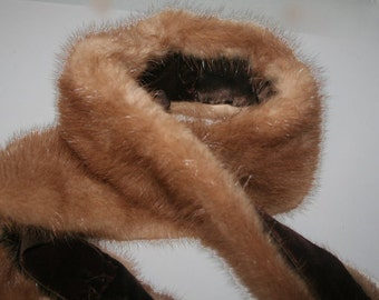 Light Mink Collar, Fur Collar, Vintage Fur Collar