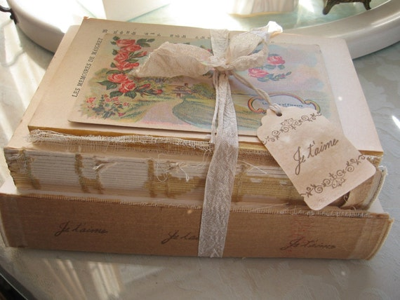 French Flea Market Coverless Book Bundle - Je Taime