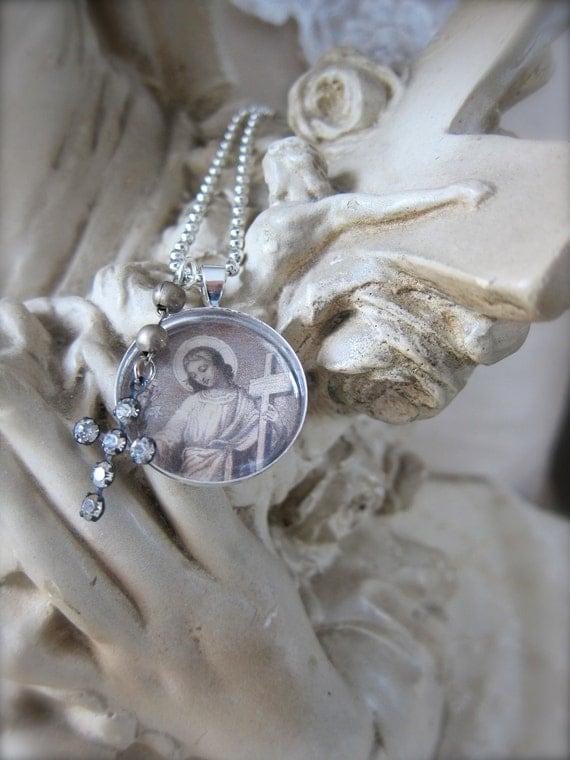 Resin Pendant - Necklace - Charm - Religious