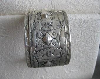 Sterling Silver Cuff by Oscar Betz