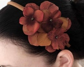 Autumn- A Romantic Floral Statement Headband- Free Shipping