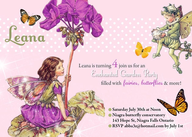 Printable Birthday invitation Enchanted Fairy Tea Party – Fairy Tea Party Invitations