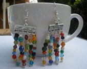 Earrings with color