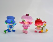 Vintage Strawberry Shortcake and Friends - Mini Rubber Figurines