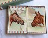 Vintage Arrco Playing Cards - Race Horse Double Deck for Repurpose