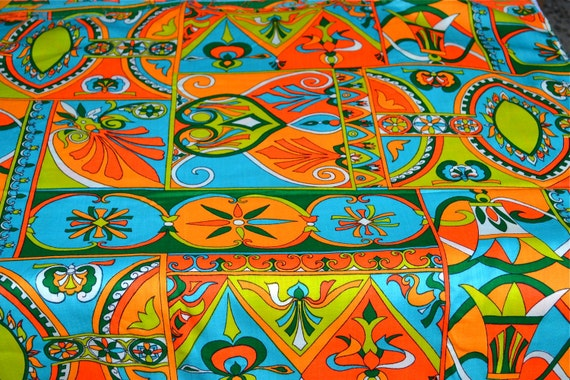 Vintage Fabric - 1960s Psychedelic Splendor - By the Yard