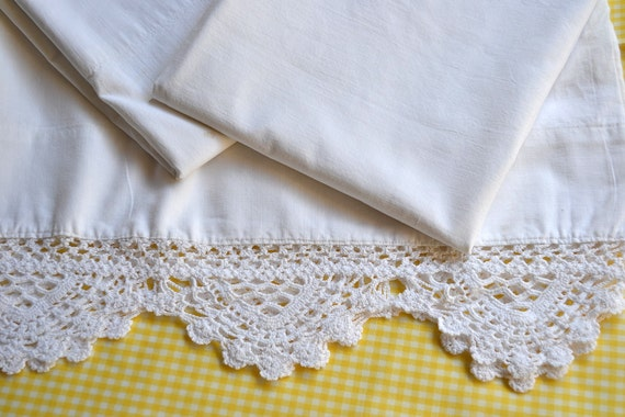 Vintage Pillowcases - All Cotton - Three Standard Size Cases