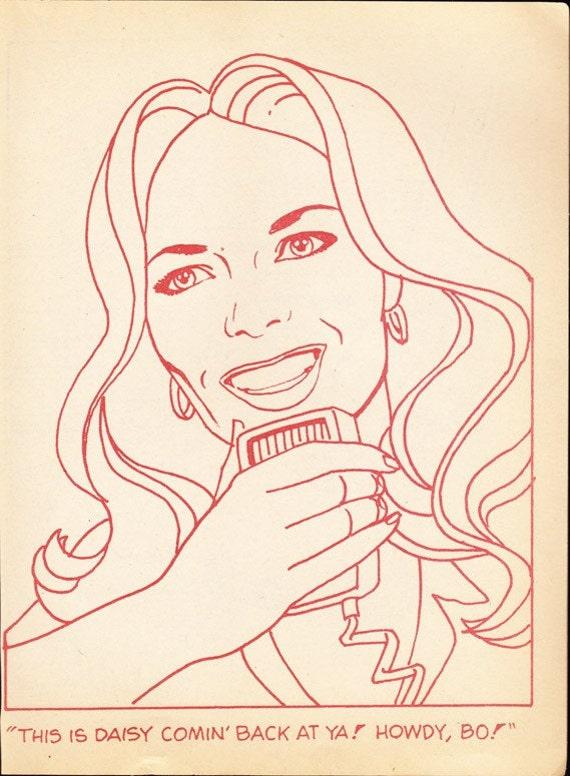 Coloring Book Page Daisy Duke Dukes Of Hazzard Catherine Bach Coloring Pages Duke Of Hazzard