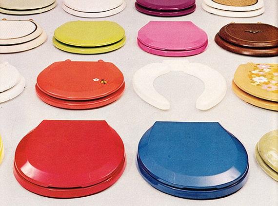 1973 Ad Bemis Toilet Seats Vintage 1970s Colors Bathroom