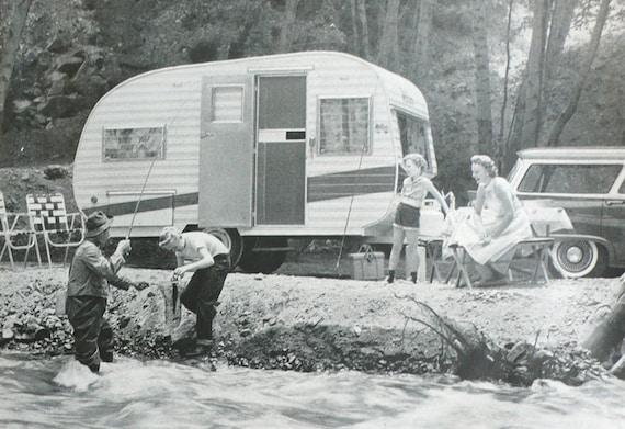 1958 ad Travel Trailer camper vardo caravan Mobile Home Manufacturers - Free U.S. shipping