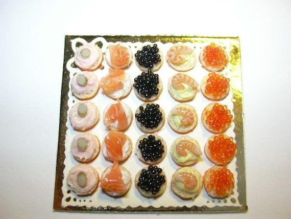 luxury seafood canape platter plateau de canapes de la mer. Black Bedroom Furniture Sets. Home Design Ideas