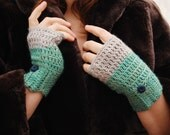 Cashmere Crochet Handwarmers with Silk & Vintage Buttons - Adventures of Jessica Rose