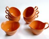 Orange Melmac Coffee Set