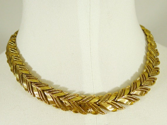 Chevron Leaf Necklace by Monet